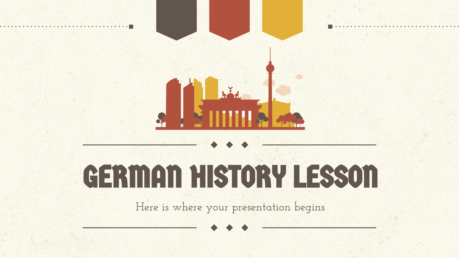 German History Lesson presentation template