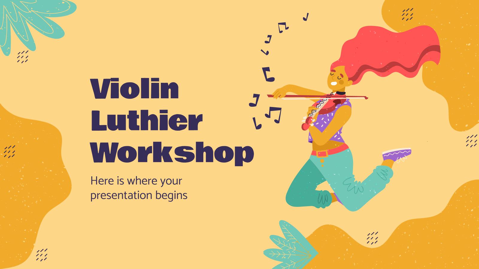 Plantilla de presentación Taller de violín Luthier