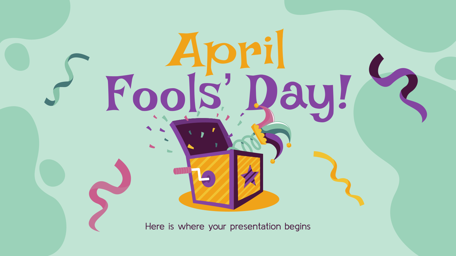 April Fools' Day! presentation template