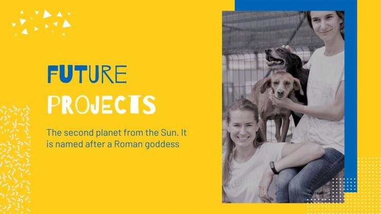 Plantilla de presentación Perfil de empresa protectora de animales