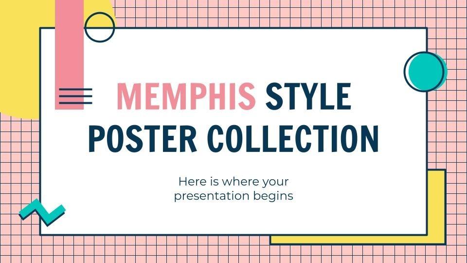 Plantilla de presentación Pósteres estilo Memphis