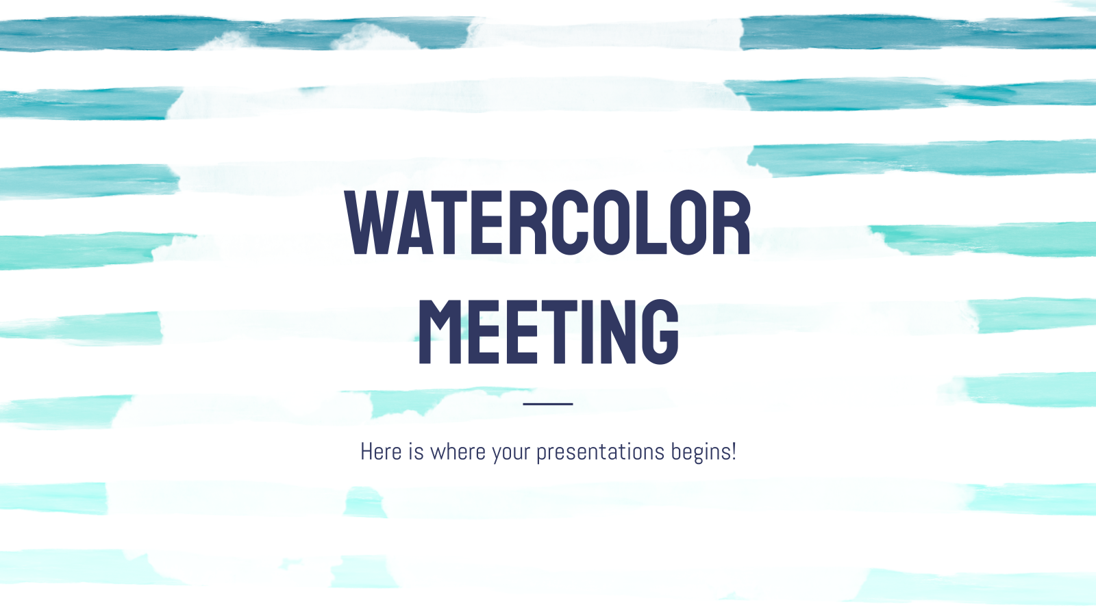 Watercolor Meeting presentation template
