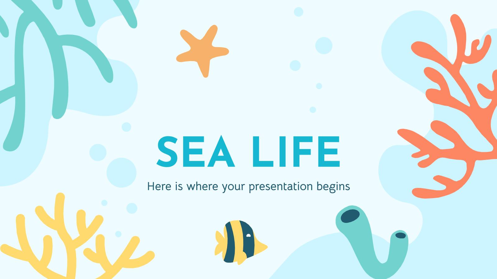 Modelo de apresentação Vida marinha