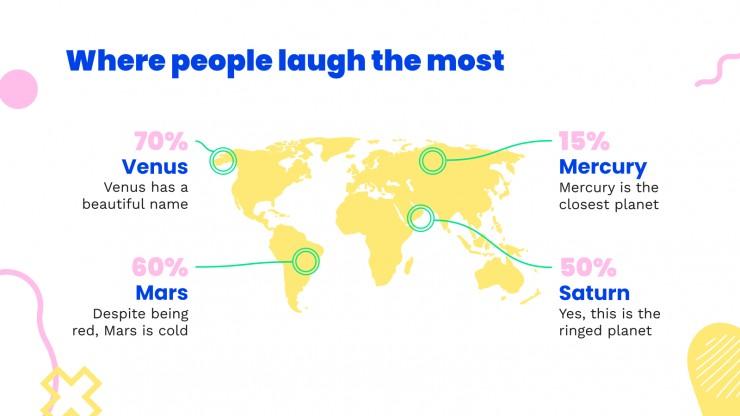 Plantilla de presentación Mes nacional del humor en EE.UU.
