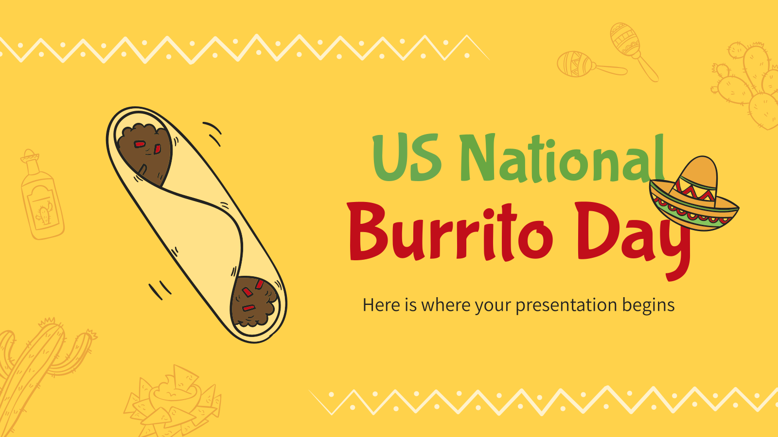 US National Burrito Day presentation template