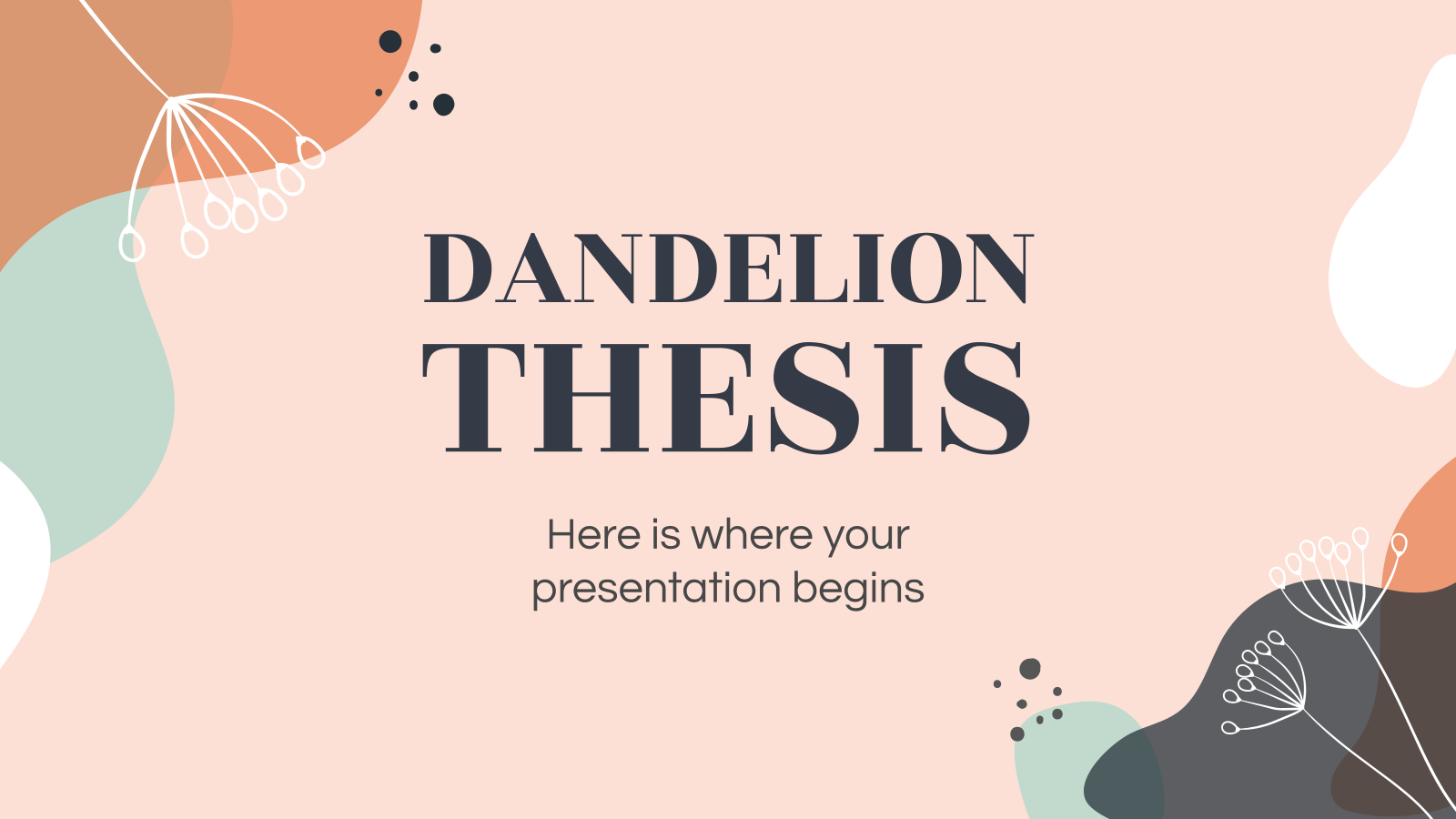 Dandelion Thesis presentation template