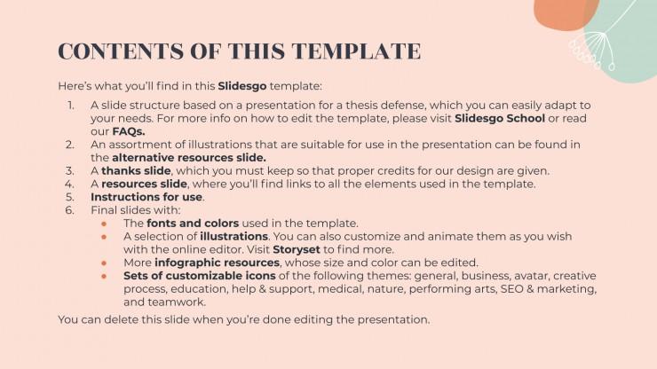 Dandelion Thesis presentation template