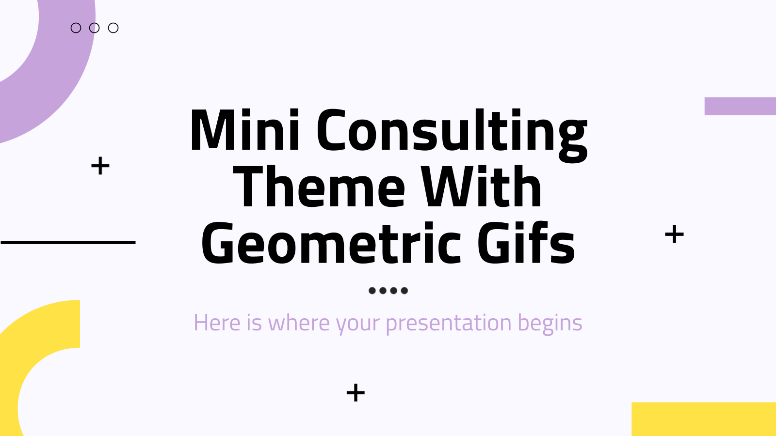 Modelo de apresentação Miniconsultoria com gifs geométricos