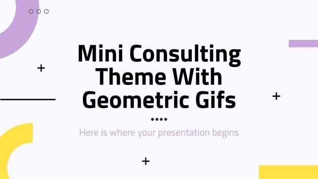 Mini Consulting Theme With Geometric Gifs presentation template