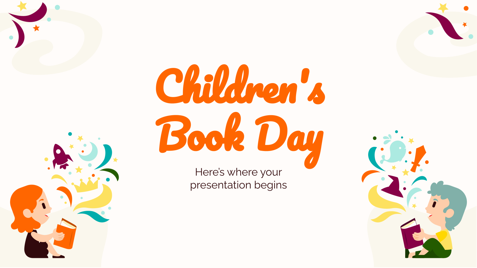 Children's Book Day presentation template