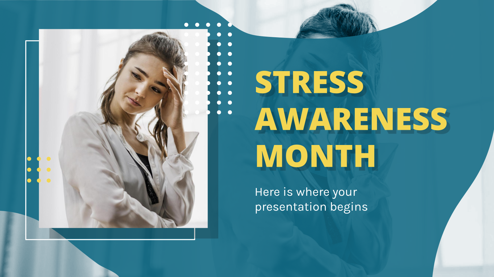 Stress Awareness Month presentation template