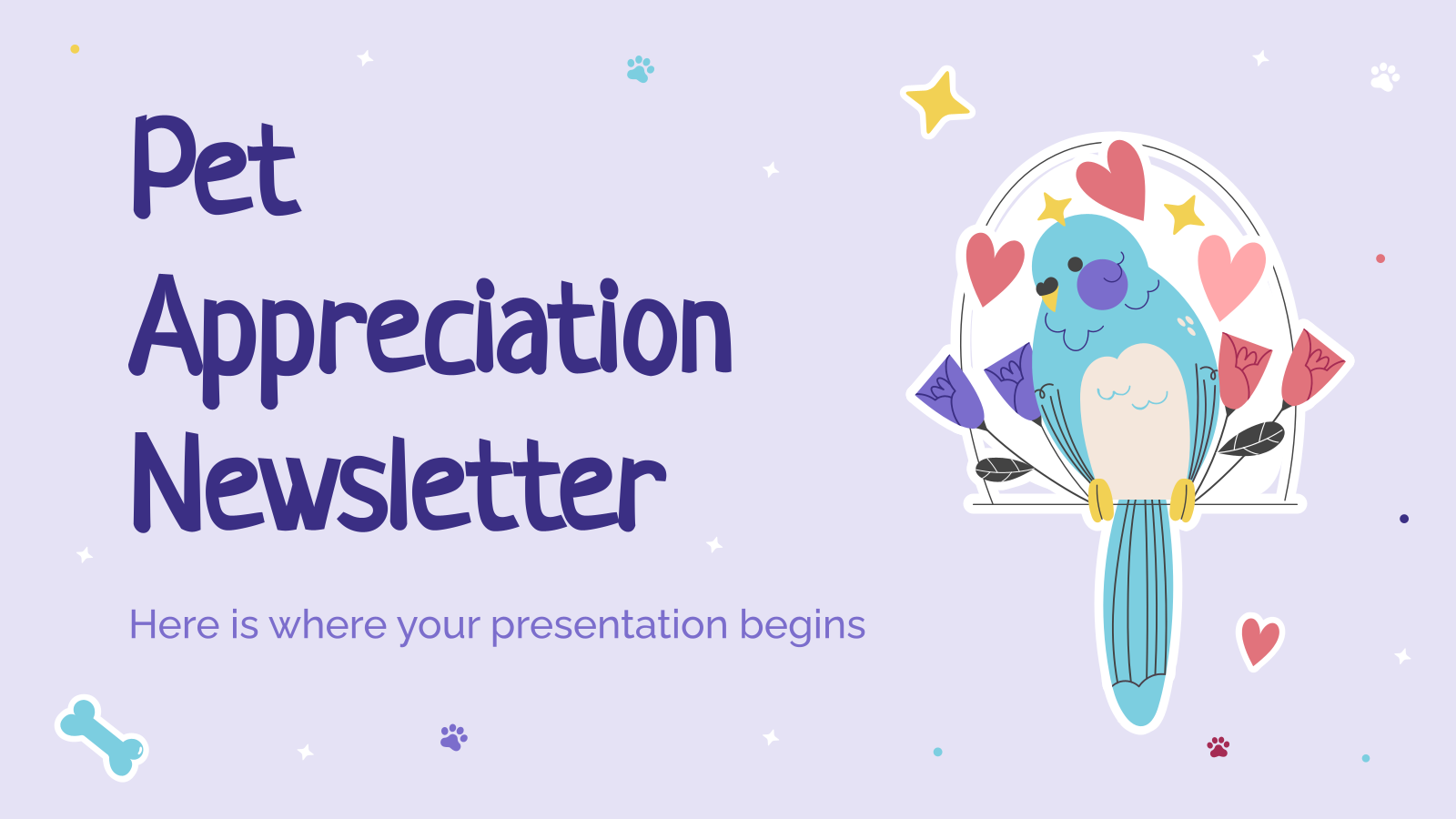 Pet Appreciation Newsletter presentation template