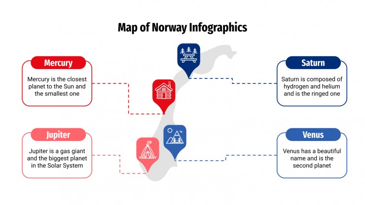 Map of Norway Infographics presentation template