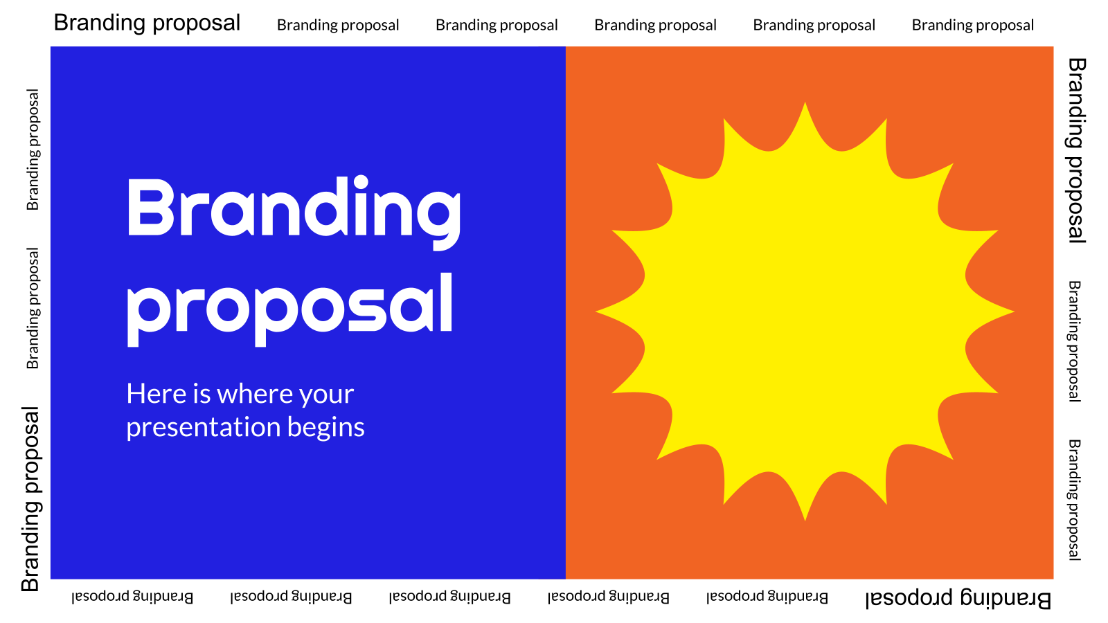 Branding Proposal presentation template