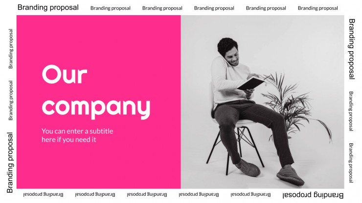 Plantilla de presentación Propuesta de branding