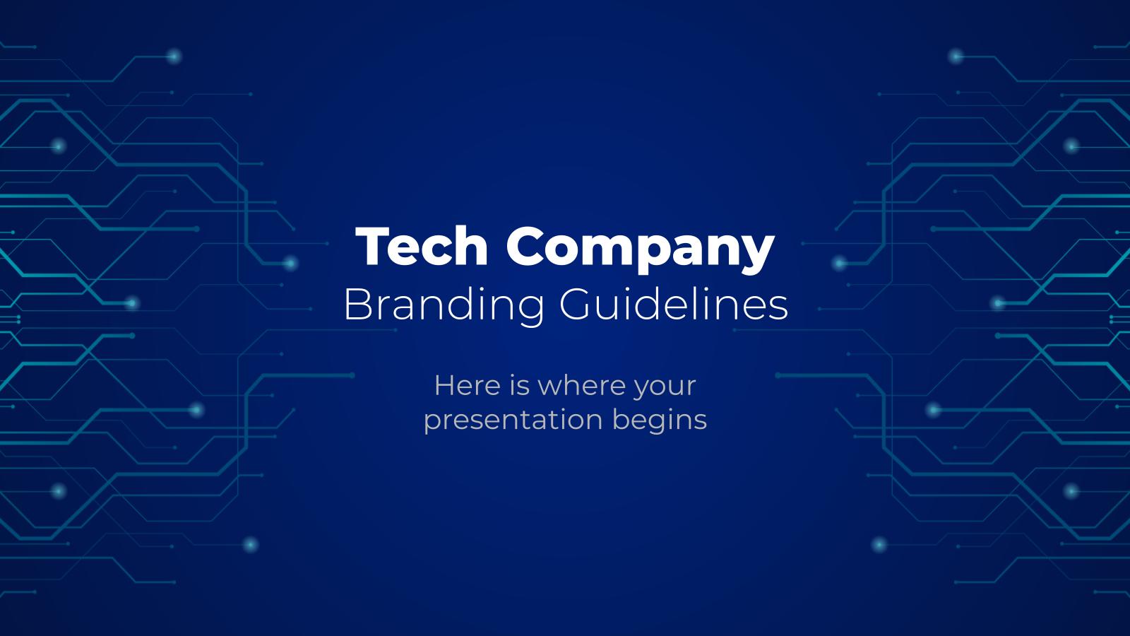 Plantilla de presentación Branding para empresas tecnológicas