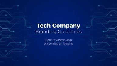 Lignes directrices d'image de marque pour les entreprises technologiques : Modèles de présentation