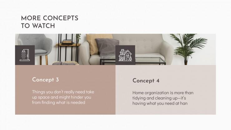 Plantilla de presentación Taller de organización del hogar