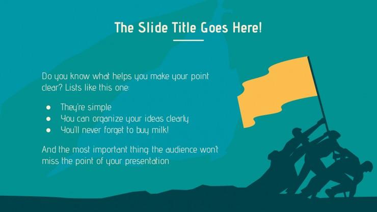 War Background presentation template