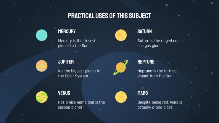 Plantilla de presentación Clase sobre el sistema solar