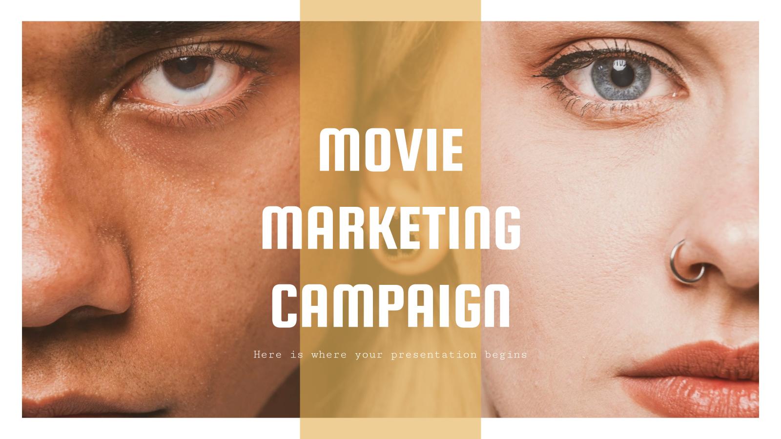 Movie Marketing Campaign presentation template