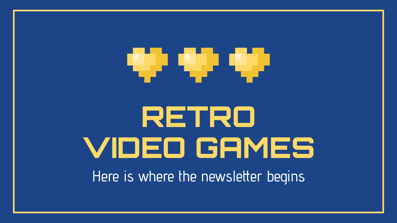 Plantilla de presentación Newsletter de videojuegos retro