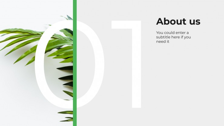 Plantilla de presentación Agencia verde