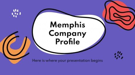 Plantilla de presentación Perfil de empresa Memphis