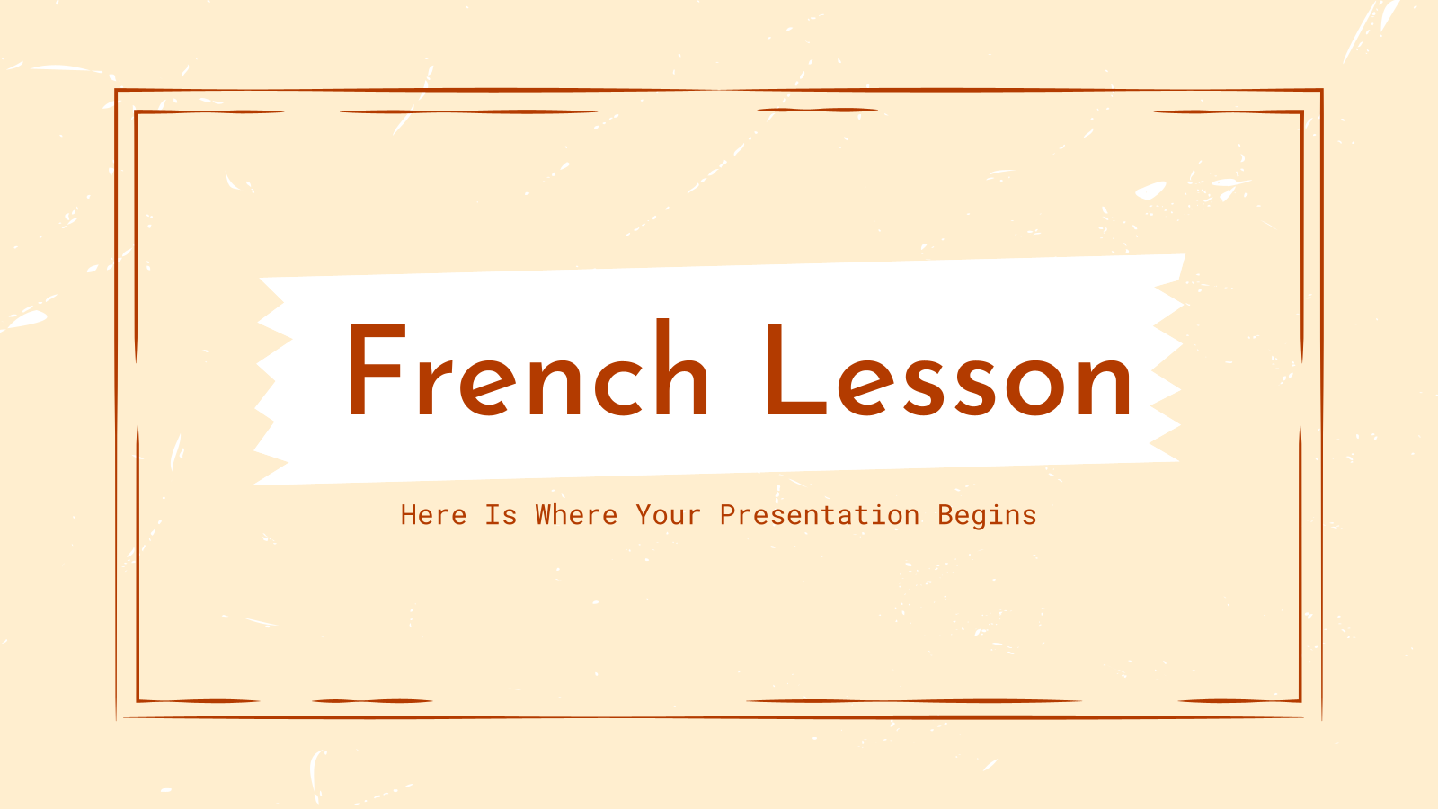 French Lesson presentation template