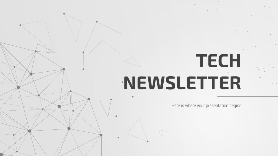 Tech Newsletter presentation template
