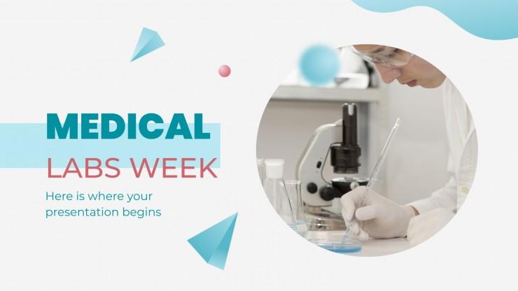 Plantilla de presentación Semana del Laboratorio Médico