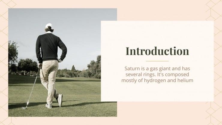 Plantilla de presentación Escuela de golf