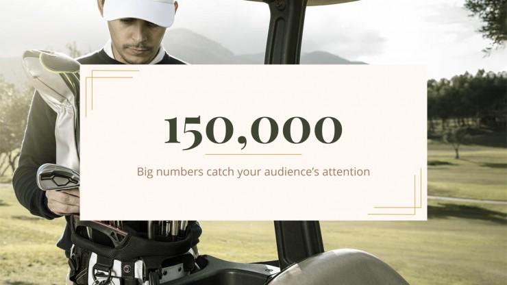 Golf Sports Center presentation template
