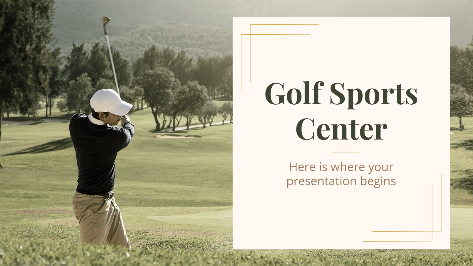 Golf Sports Center presentation template