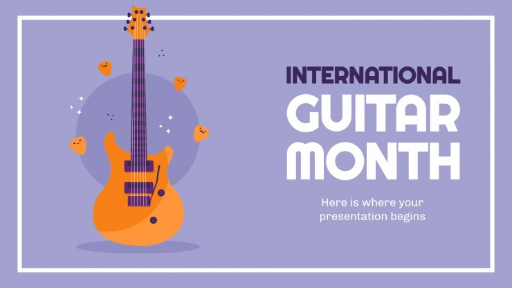 International Guitar Month presentation template