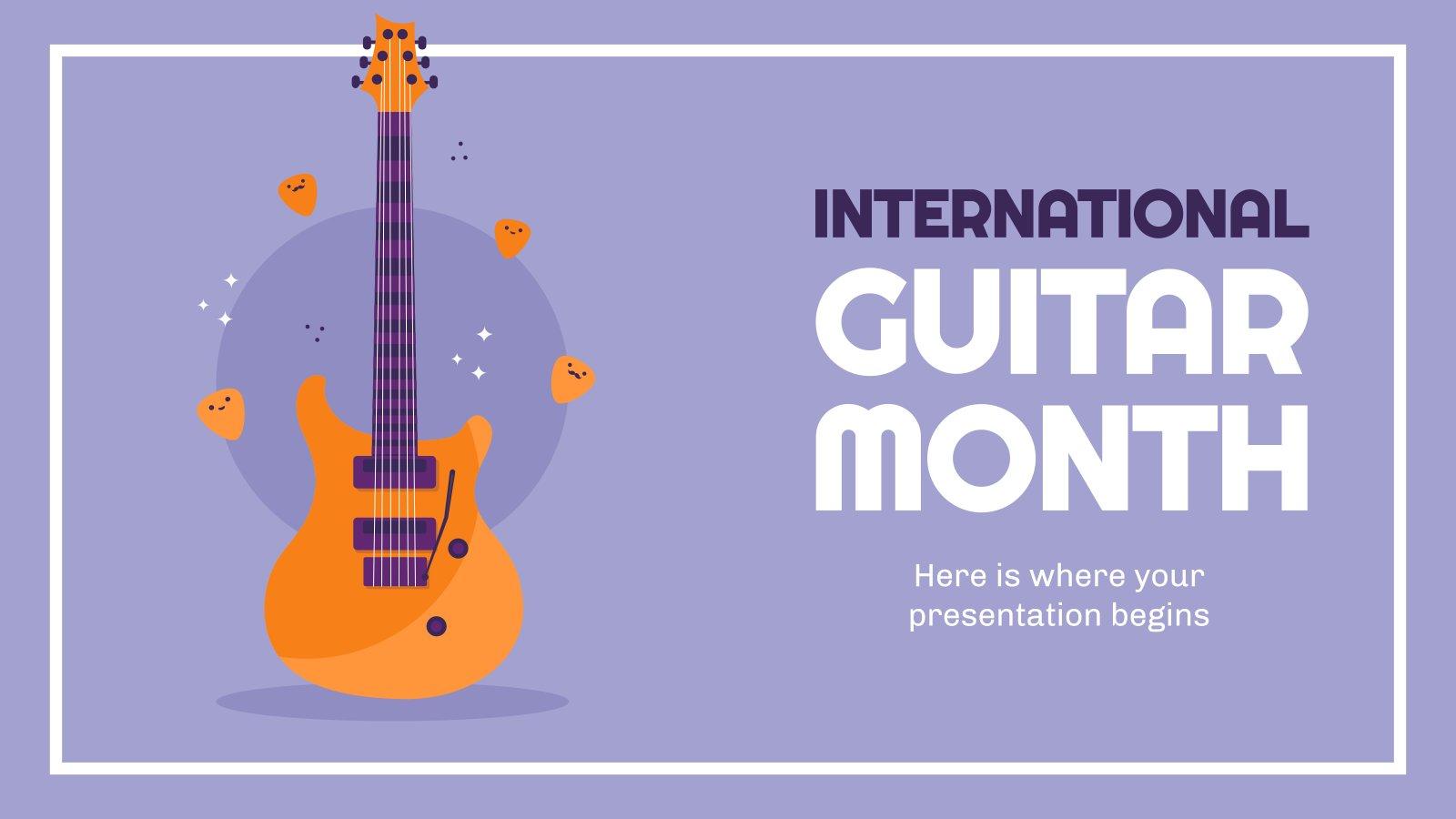 International Guitar Month presentation template