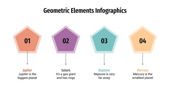 Geometric Elements Infographics presentation template
