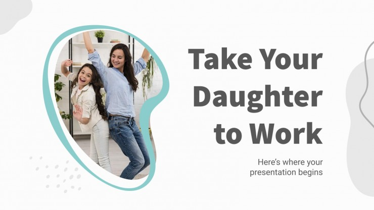 Plantilla de presentación Lleva a tu hija al trabajo