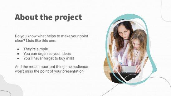 Modelo de apresentação Leve as crianças para o trabalho