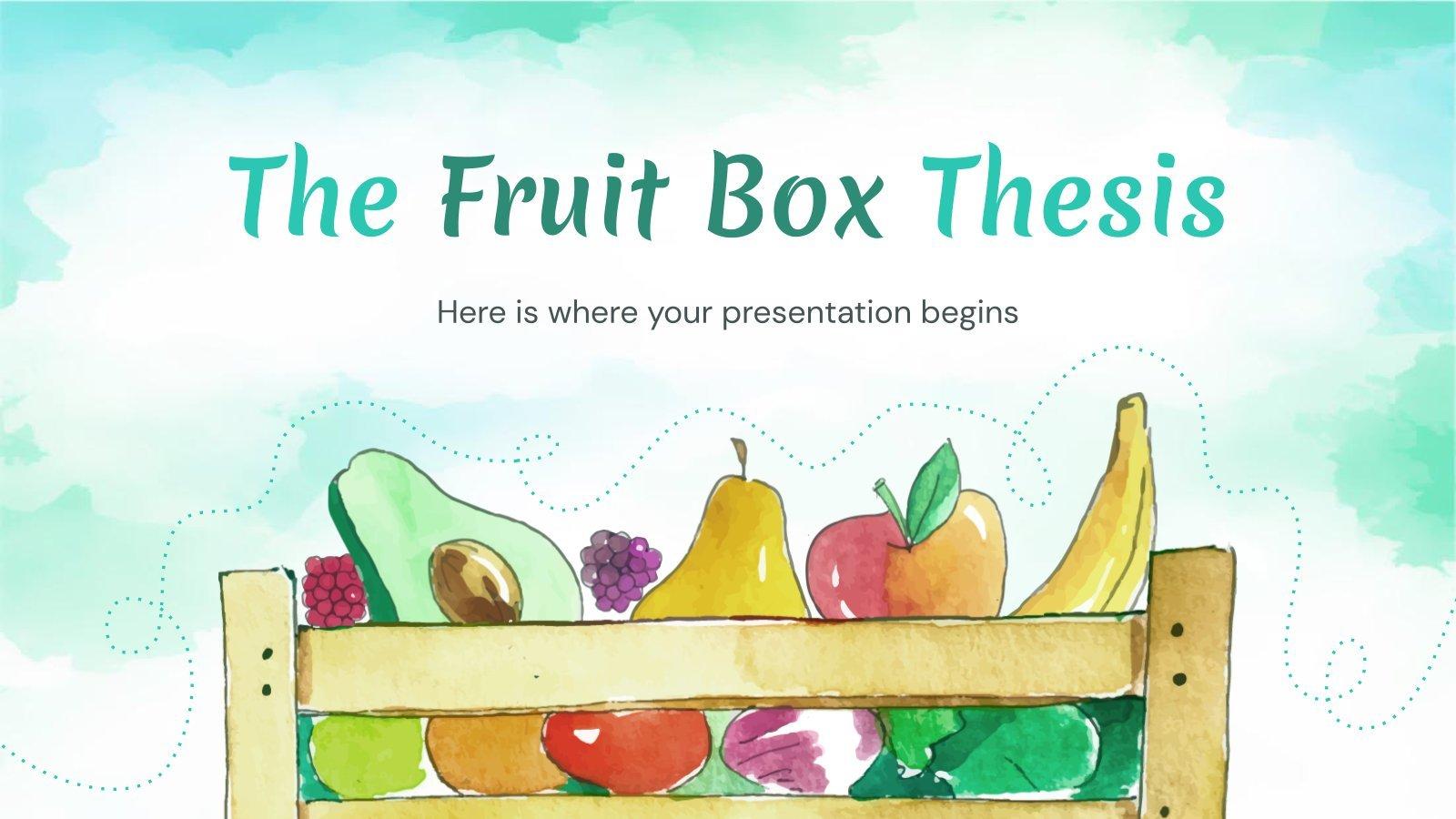 Plantilla de presentación Tesis caja de frutas