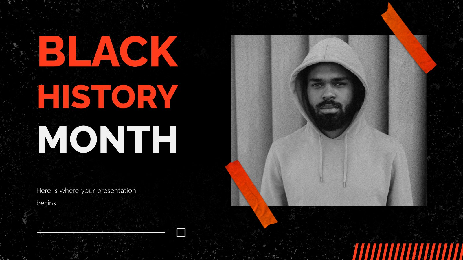Black History Month presentation template
