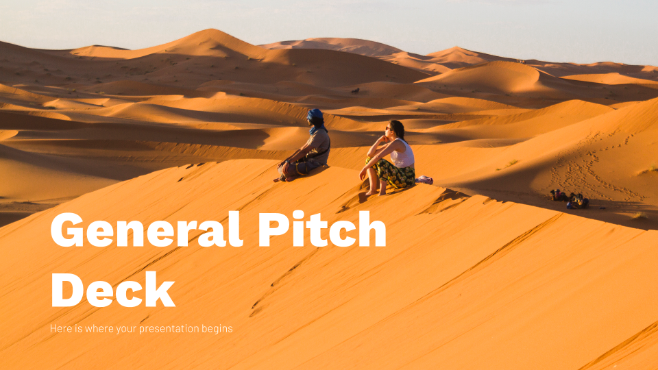 General Pitch Deck presentation template
