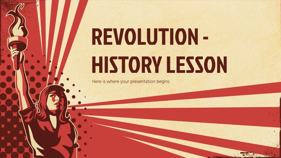 Révolution - Cours d'histoire : Modèles de présentation