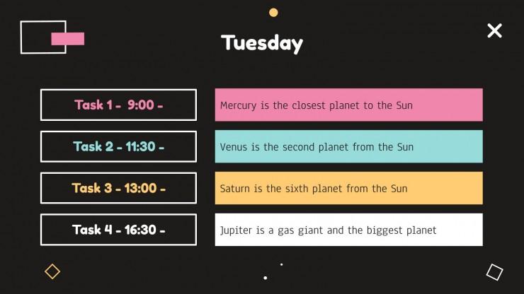 April Daily Slides presentation template