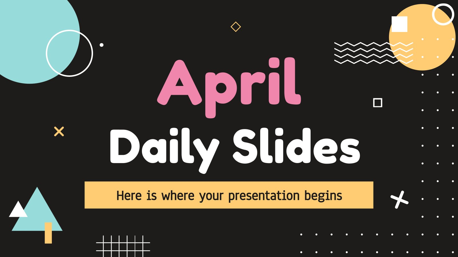 April Daily Slides presentation template