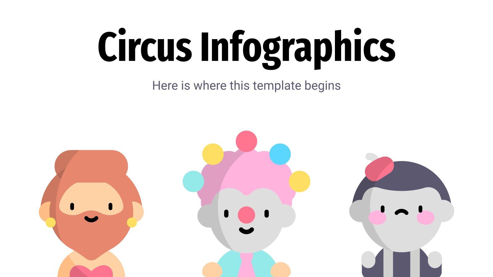 Plantilla de presentación Infografías de circo