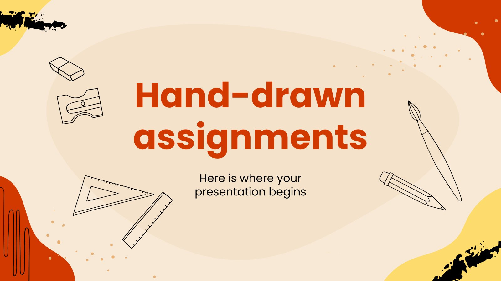 Hand-drawn Assignments presentation template