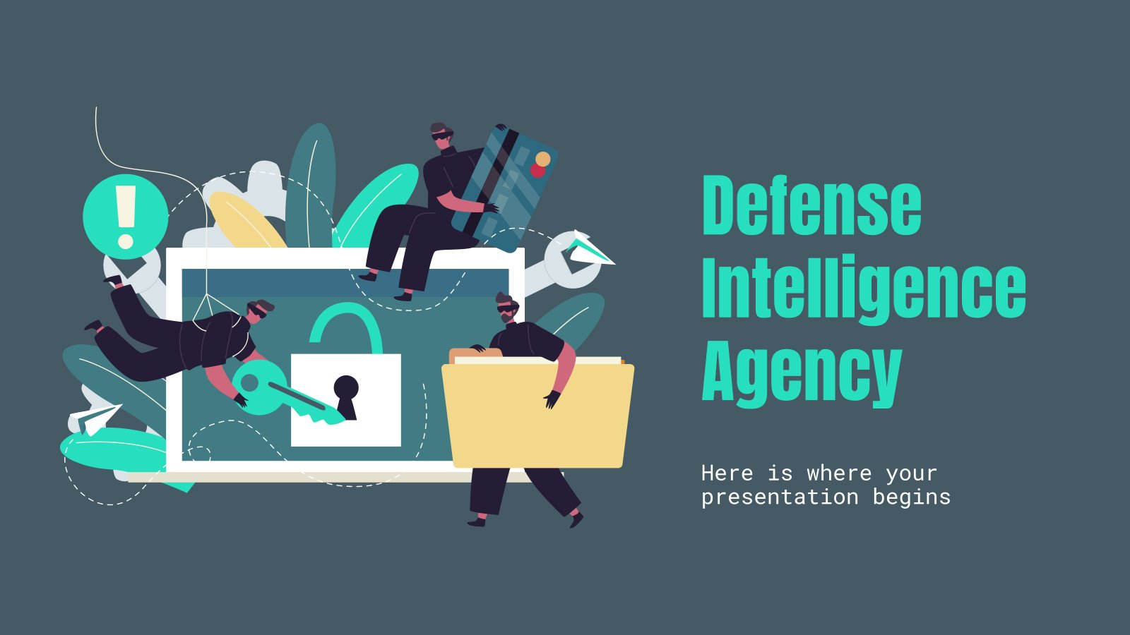 Defense Intelligence Agency presentation template