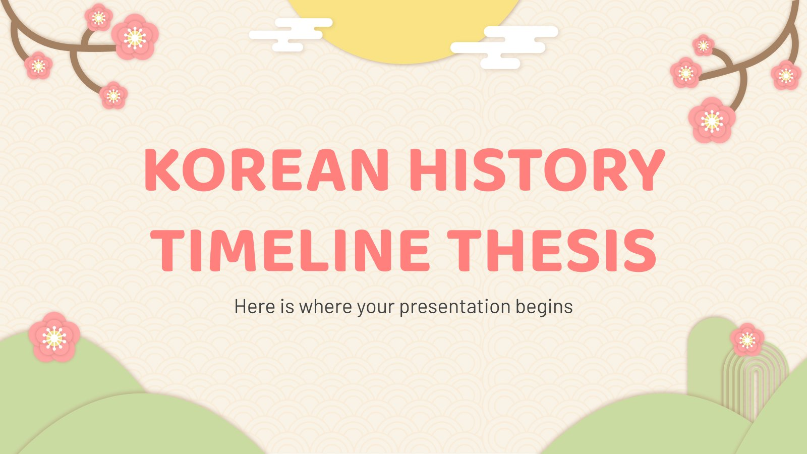 Korean History Timeline Thesis presentation template