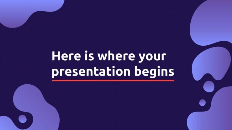 Purple Bubbles presentation template